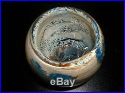 Early Work 1978 JOSH SIMPSON Signed Art Glass Vase Paperweight