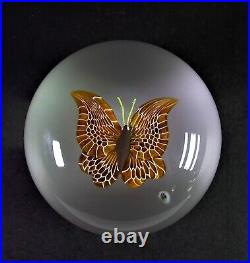 Edles Paperweight BACCARAT 1978 EXOTIC BUTTERFLY lim. Edition No 53/125