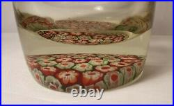 English Whitefriars Decanter Form Millefiori/Glass Inkwell Paperweight C. 1970