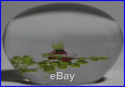 Exquisite PAUL J STANKARD Wild ROSE Art Glass PAPERWEIGHT