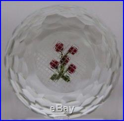 Exquisite PERTHSHIRE Attributed HONEYCOMB Cut CHERRIES Glass PAPERWEIGHT