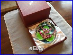 Exquisite PERTHSHIRE Floral lotus butterfly paperweight Scotland mint condition