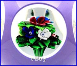 Exquisite SAINT LOUIS Multifaceted FLOWER BOUQUET Art Glass PAPERWEIGHT 13/50
