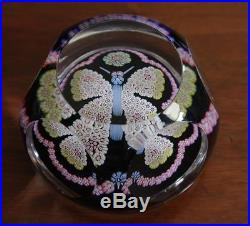 Extremely Rare 1979 Whitefriars Millefiori Glass Butterfly Paperweight, Ex Cond
