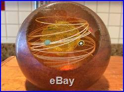 Fabulous Glass Eye Studio Solar System Celestrial Series Sphere Paperweight