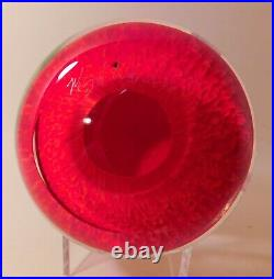 FANTASTIC MAYAUEL WARD VIOLET ORCHID Lampwork Art Glass PAPERWEIGHT &Signed 2019