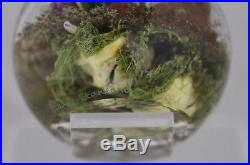 FASCINATING Paul STANKARD 3x MASK Environmental MAGNUM Art Glass PAPERWEIGHT