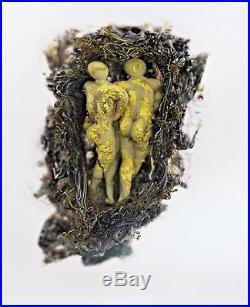 FASCINATING Paul STANKARD Art Glass FERTILITY CUBE Paperweight