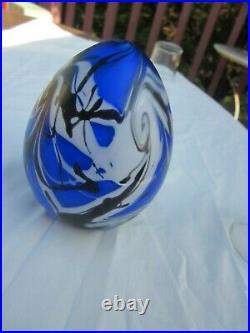 FENTON Art Glass 1976 Robert Barber Egg Paperweight