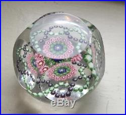 FINE QUALITY ANTIQUE MULTI FACETED MILLIFIORI PAPERWEIGHT PAPER WEIGHT BACCARAT