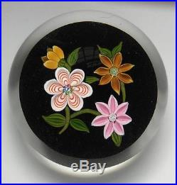 FINE QUALITY PERTHSHIRE P CANE SIGNED FLORAL BOUQUET PAPERWEIGHT 1978