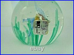 FRATELLI TOSO Murano Art Glass FISH IN SEAWEED Paperweight LAMPWORK with LABEL