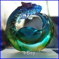 FREE SHIP SPECTACULAR Tittot DRAGON Sculpture PAPERWEIGHT or DISH 5 SIGNED, BOX