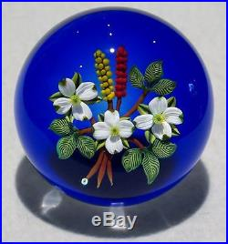 Fantastic Johne Parsley Studio Art Glass Signed Flora lampworked paperweight