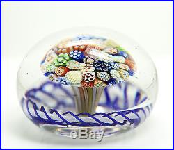 Fine Antique 19c Victorian Art Glass Star Floral Cane Paperweight