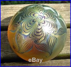 Fine Vintage Signed 1979 Zephyr Studio Sultans Twist Art Glass Paperweight
