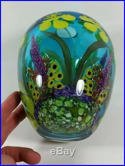 Fish & Coral Reef Sculptural 3D Paperweight Vase CHRIS HEILMAN Hot Blown Glass