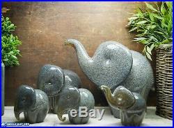 Five Langham Glass Elephants A Herd Of Art Glass Safari Collection Paperweights