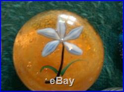 Flowers, Baccarat, Selkirk Etc. Paperweights