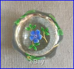 Francis D. Whittemore Blue Flower Paperweight, circa 1975