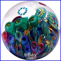 GLASS EYE STUDIO-ENVIRONMENTAL COOL POOL 3-BLOWN GLASS PAPERWEIGHT-