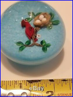 GORGEOUS BANFORD Red Bird with Eggs PAPERWEIGHT