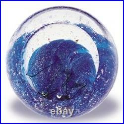Glass Eye Studio Celestial Neptune Art Glass with box- made in USA