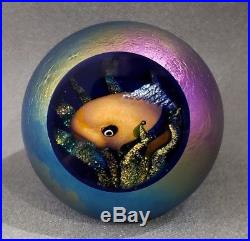 Glass Eye Studio Environmental Series Fish Bowl Hand-Blown Glass Paperweight