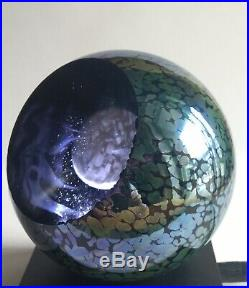 Glass Eye Studio GES Full Moon 3 Glass Paperweight From The Celestial Series