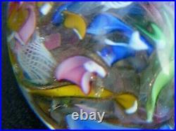 Glass Paperweight Scrambled Baccarat Murano