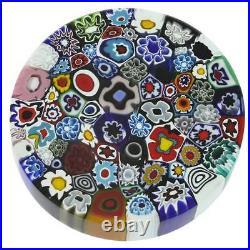 GlassOfVenice Murano Glass Millefiori Round Paperweight Large