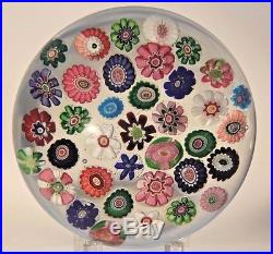 Gorgeous CLICHY Millefiori 37 CANES with Double CLICHY ROSES Art Glass PAPERWEIGHT