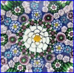 Gorgeous DREW EBELHARE Multicolored MILLEFIORI CANES Art Glass PAPERWEIGHT