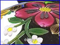 Gorgeous Perthshire 1993F Annual Ltd Ed of 199 Paperweight Black Overlay Bouquet