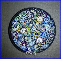 Gorgeous Perthshire Paperweight Small Scrambled End of Day NIB with COA
