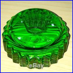 Gorgeous Rare Rolex Green Submariner Crown Crystal Paper Weight (Paperweight)