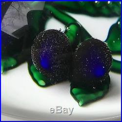 Gorgeous ST LOUIS Art Glass Prunes Plum Signed & Dated 1984 PAPERWEIGHT