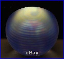 HENRY SUMMA Egg Shaped Beautiful Art Glass Small Paperweight, Apr 2.75Hx2.25W