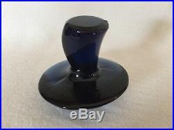 HTF Viking Art Glass LARGE CHARCOAL BLUE EPIC MUSHROOM Paperweight Free US Ship