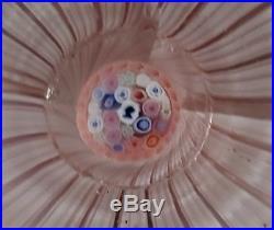HYPER RARE SCARCE antique Bacchus Millefiori Queen Victoria glass paperweight