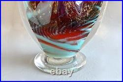 Hal David Berger 1997 signed Art Glass Sculpture 22 tall