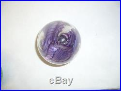 Hal David Berger Glass Paperweight Great Colors Singed 2/87