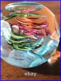 Handblown Glass Paperweight By David Salazar 2 X 1.5