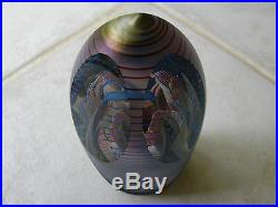 Henry Summa Signed/Dated 1988 Iridized Faceted Pedestal Paperweight 5 of 68 RARE