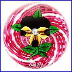 Holiday Sale! John Deacons Classic Pansy On Red and White Spiral Ground
