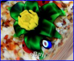 INCREDIBLE Magnum BOB BANFORD Stalking SALAMANDER Spider ART Glass PAPERWEIGHT