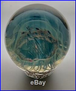 INCREDIBLE Satava STUDIO ART GLASS Paperweight JELLYFISH 5 1/2 inches Sculpture