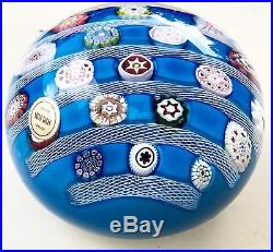 INCREDIBLE Vintage SAINT LOUIS Paperweight MILLEFIORI CANE Crystal FRANCE