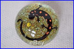 Interesting Large Studio Paperweight Salamander Lizard Insect Bug Unknown Artist