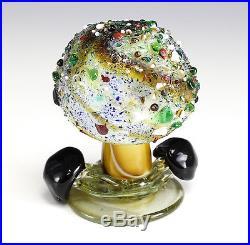 Italian Art Glass Murano large Mushroom paperweight